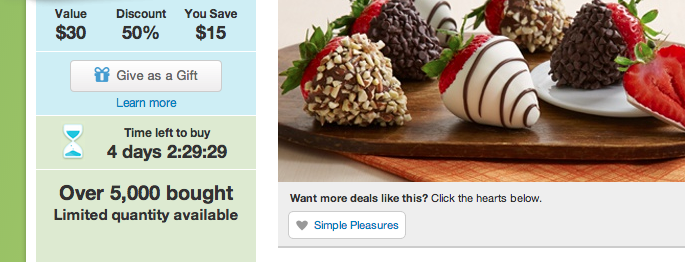 screen shot of a timer at Groupon