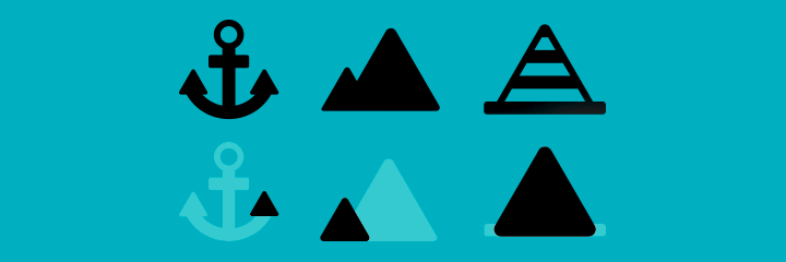 example of geometric shapes among icons
