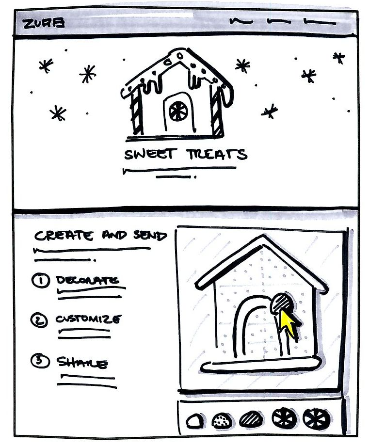 sketch of gingerbread site