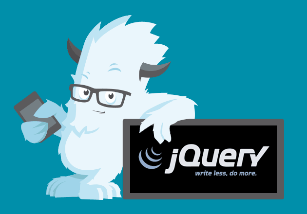 illustration of the Yeti leaning on jQuery. Most of Foundation's components lean on jQuery.