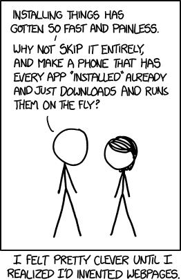 cartoon about reinventing websites