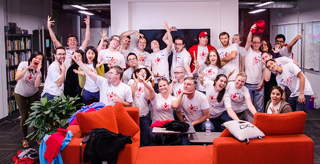 ZURB and Sacred Heart teams