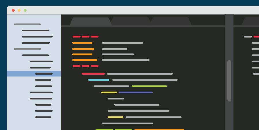 Illustration of a web app prototype