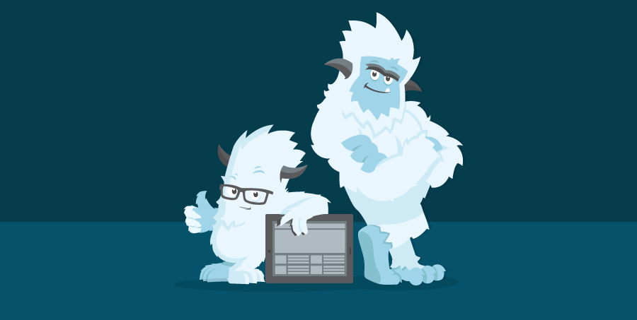 Illustration of the two Yetis together