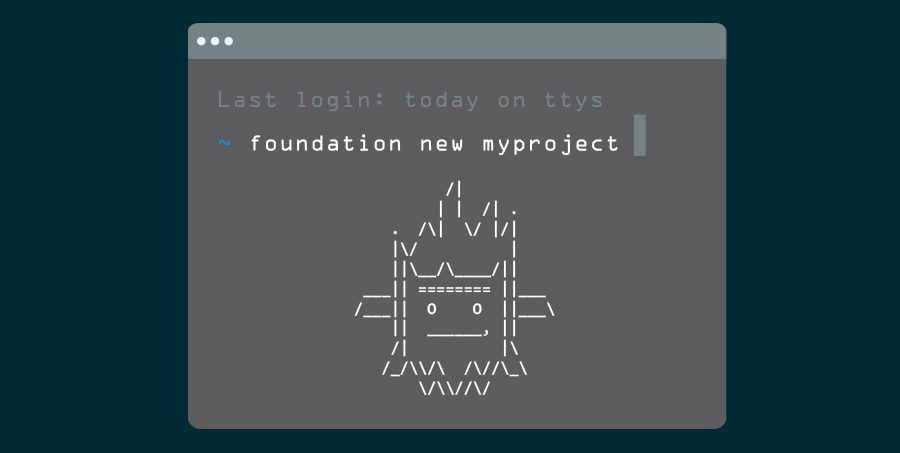 screenshot of the ascii yeti in a terminal