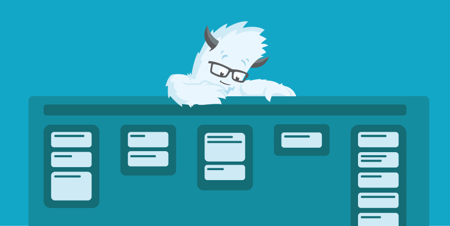 Illustration of the Yeti and a screen shot of Trello