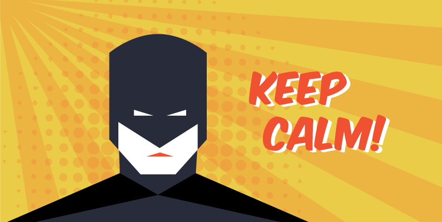 keep calm superhero