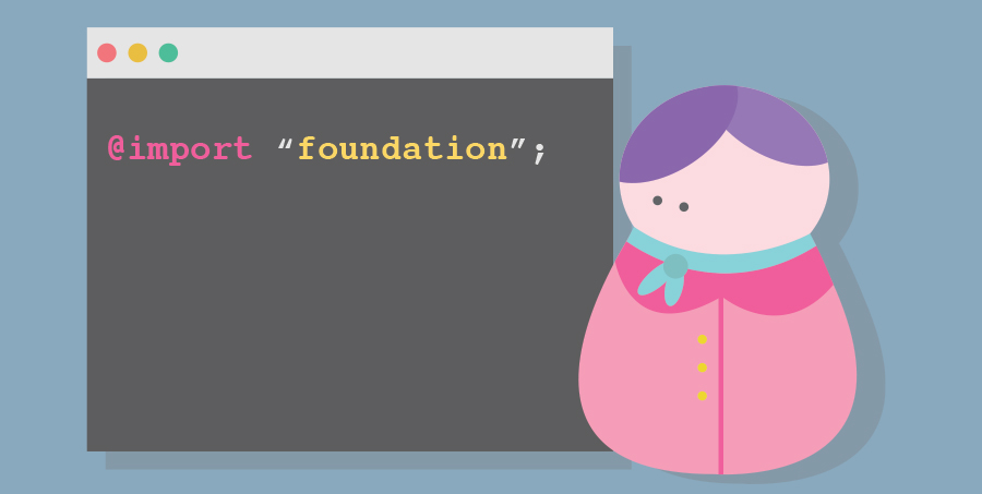 Sass in Foundation Illustration