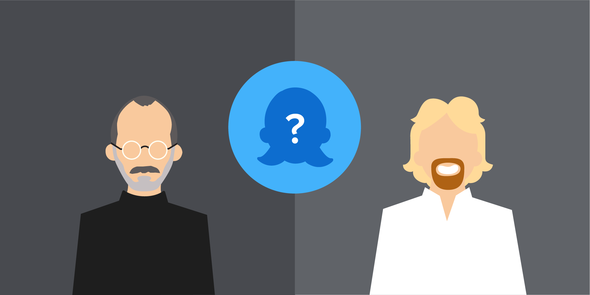 Steve Jobs or Richard Branson Illustration