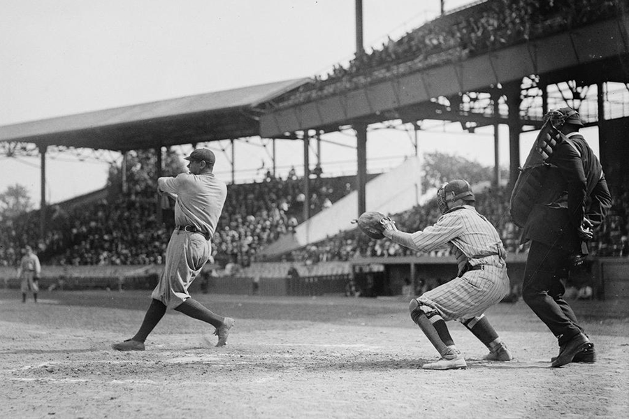 Picture of Babe Ruth striking out
