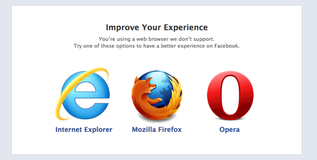 Improve your experience