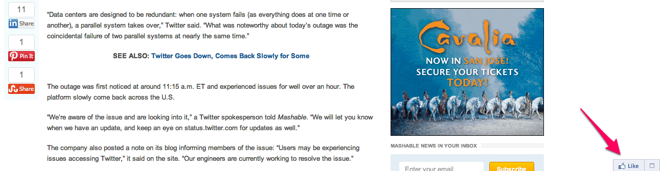 Mashable recommendations bar