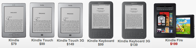 Kindle price