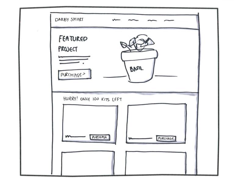 sketch of Darby Smart homepage
