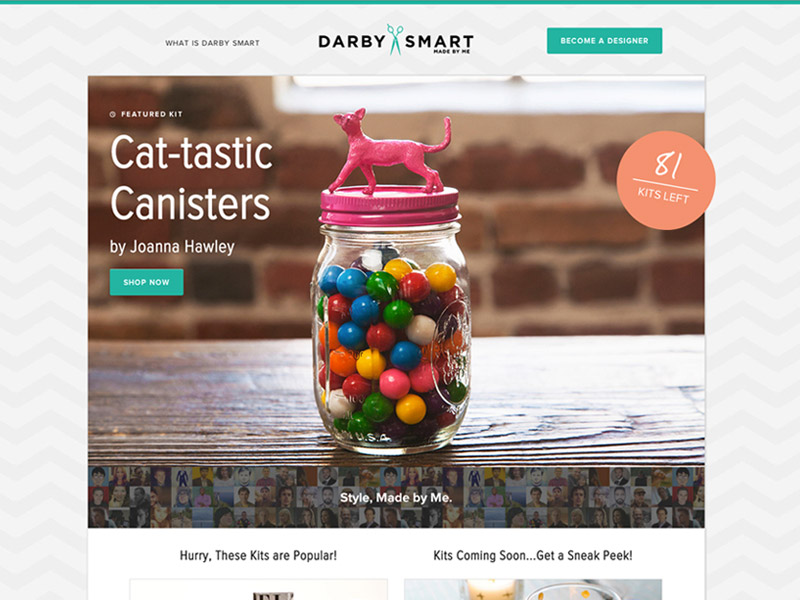 Zurb let the do it yourself kits sell themselves screenshot of darby smart homepage solutioingenieria Gallery