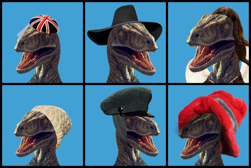 photos of velociraptors at the Vogue site