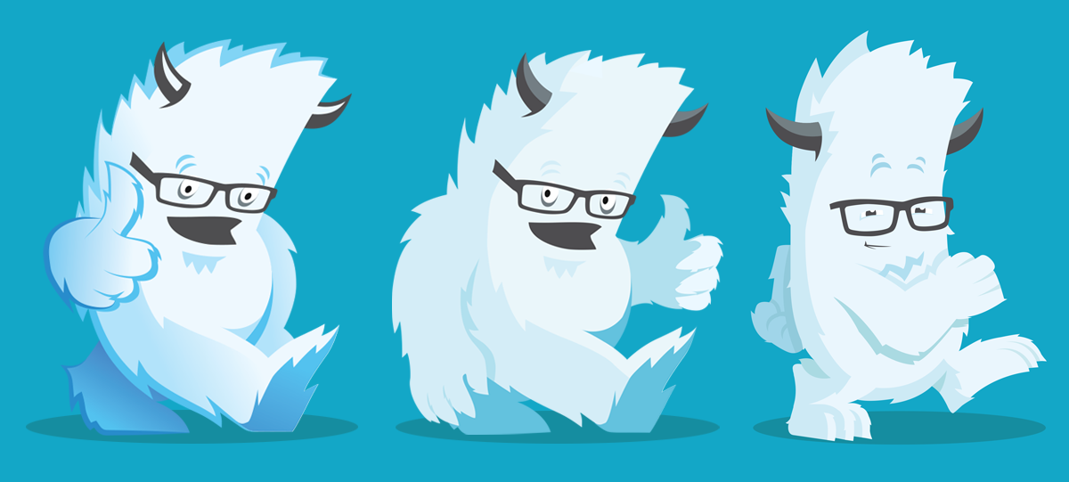 progression of Yeti mascot