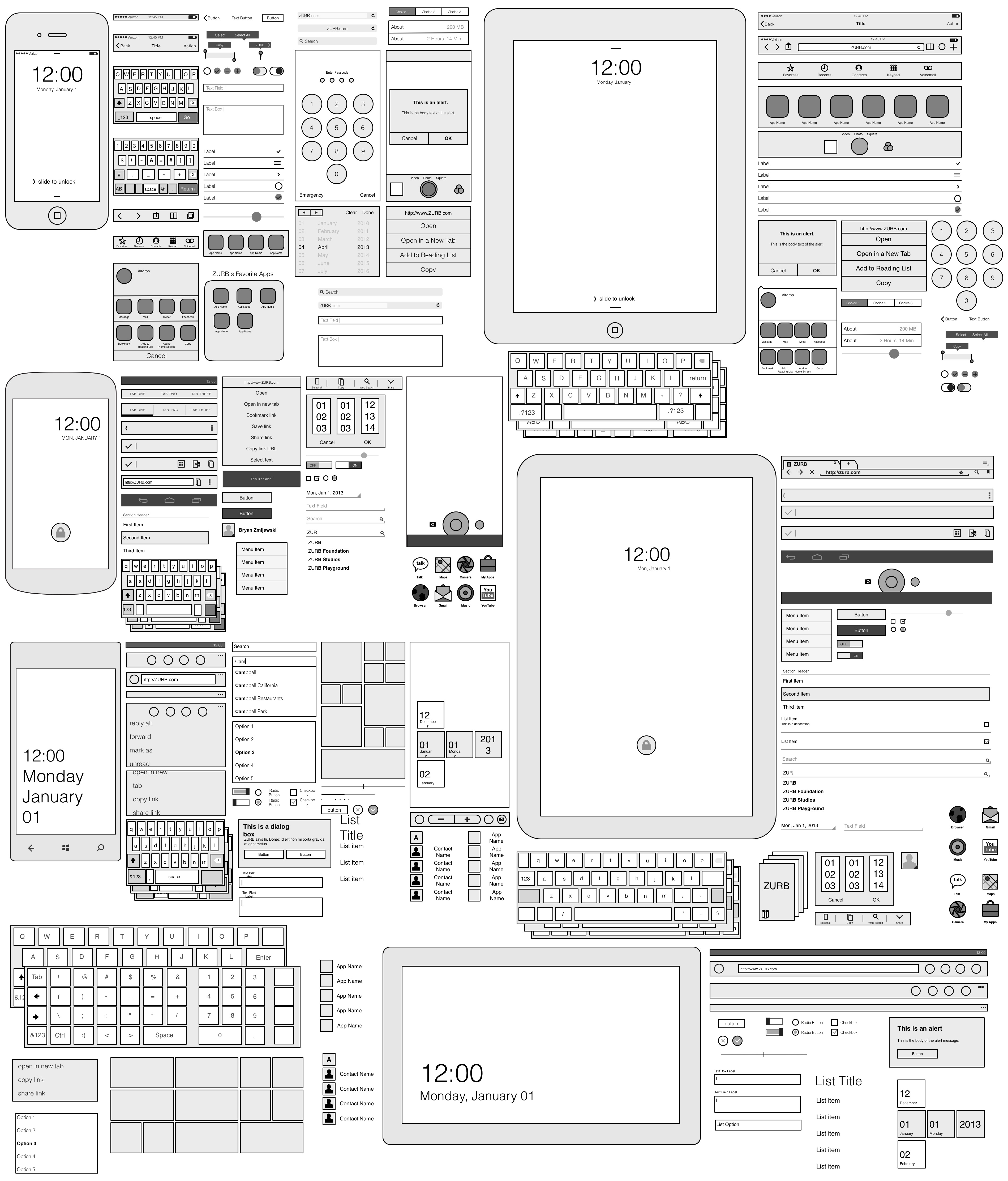 Ui Sketch Template Overview